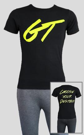T-Shirt GymTherapy, Rundhals-Ausschnitt, schwarz