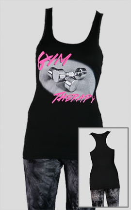 Damen Tanktop GymTherapy, schwarz / pink